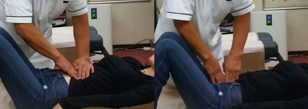 腹部の調整画像