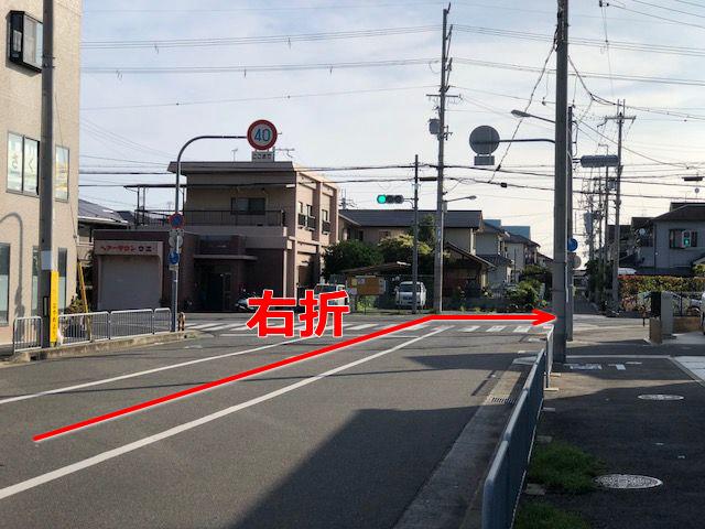 東岸和田方面よりR30号線からの道順7